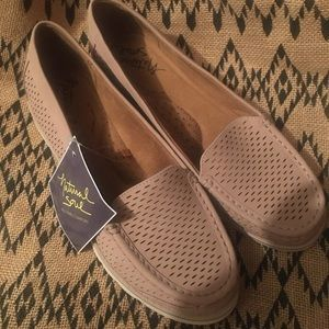 Natural soul loafers flats